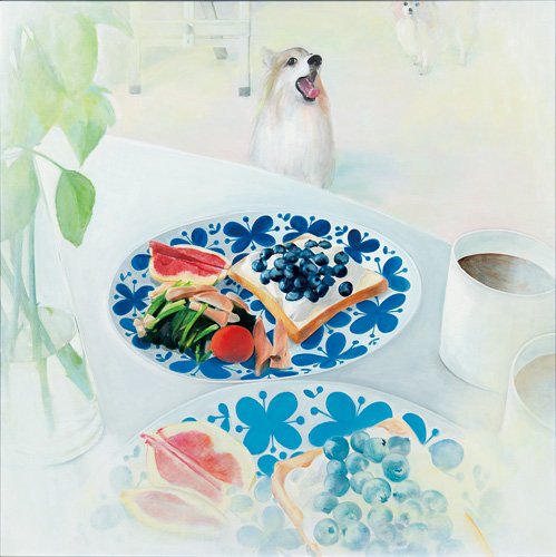 "<span class=""syo"">【新人賞】</span><br />「 Breakfast Ⅲ 」 S80<br />菅野律子<br />〈公募入選〉"